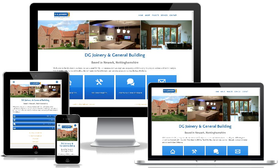 dg joinery website as viewed on Apple Devices