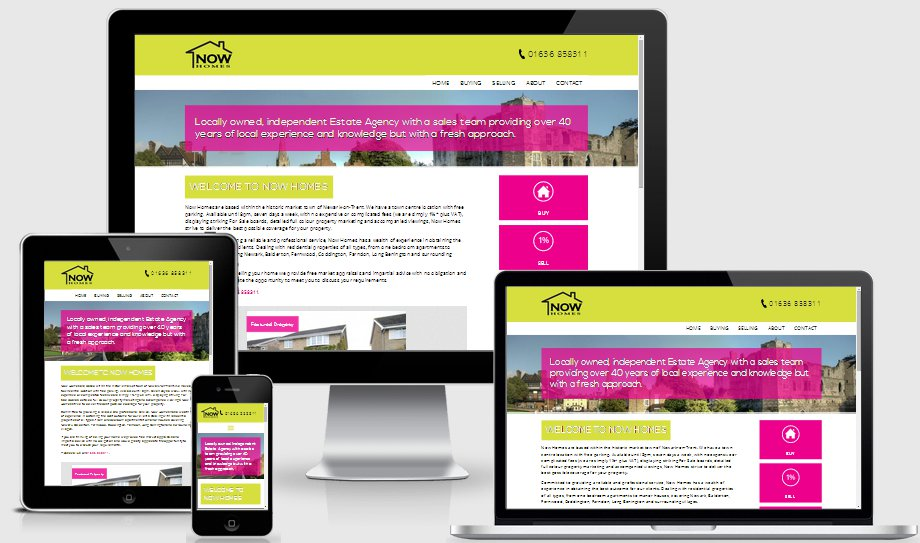 Now Homes website as viewed on Apple Devices
